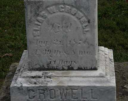 CROWELL, ELIAS W. - Lorain County, Ohio | ELIAS W. CROWELL - Ohio Gravestone Photos