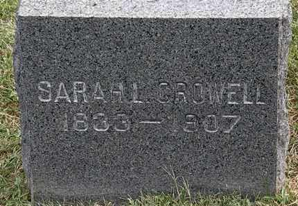 CROWELL, SARAH L. - Lorain County, Ohio | SARAH L. CROWELL - Ohio Gravestone Photos