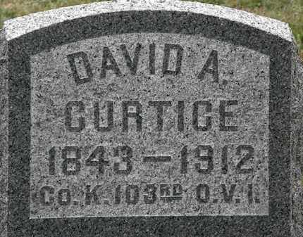 CURTICE, DAVID A. - Lorain County, Ohio | DAVID A. CURTICE - Ohio Gravestone Photos