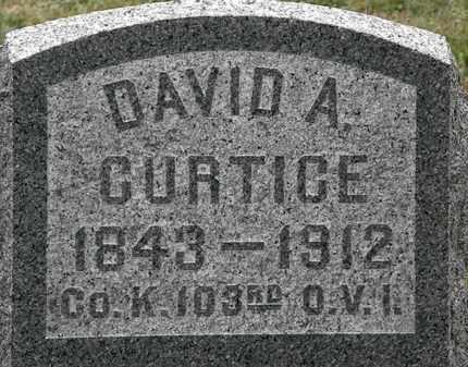 CURTICE, DAVID A. - Lorain County, Ohio | DAVID A. CURTICE - Ohio Gravestone Photos