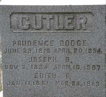 DODGE CUTLER, PRUDENCE - Lorain County, Ohio | PRUDENCE DODGE CUTLER - Ohio Gravestone Photos