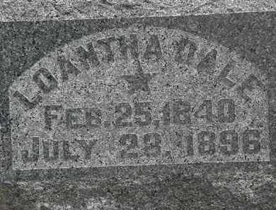 DALE, LOANTHA - Lorain County, Ohio | LOANTHA DALE - Ohio Gravestone Photos