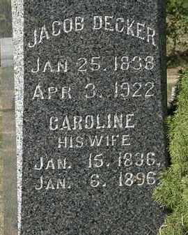 DECKER, JACOB - Lorain County, Ohio | JACOB DECKER - Ohio Gravestone Photos