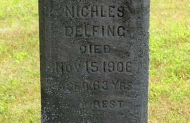 DELFING, NICHLES - Lorain County, Ohio | NICHLES DELFING - Ohio Gravestone Photos