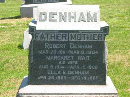 WAIT DENHAM, MARGARET - Lorain County, Ohio | MARGARET WAIT DENHAM - Ohio Gravestone Photos