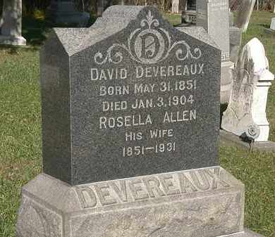 ALLEN DEVEREAUX, ROSELLA - Lorain County, Ohio | ROSELLA ALLEN DEVEREAUX - Ohio Gravestone Photos
