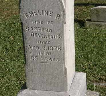 DEVEREAUX, EMELINE R. - Lorain County, Ohio | EMELINE R. DEVEREAUX - Ohio Gravestone Photos