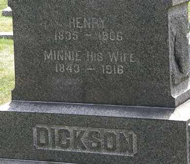 DICKSON, MINNIE - Lorain County, Ohio | MINNIE DICKSON - Ohio Gravestone Photos