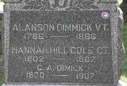 DIMMICK, ALANSON - Lorain County, Ohio | ALANSON DIMMICK - Ohio Gravestone Photos