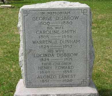DISBROW, CAROLINE - Lorain County, Ohio | CAROLINE DISBROW - Ohio Gravestone Photos