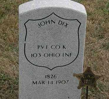 DIX, JOHN - Lorain County, Ohio | JOHN DIX - Ohio Gravestone Photos