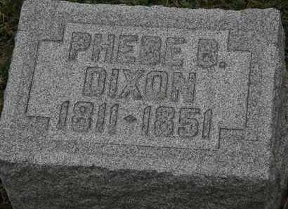 DIXON, PHEBE B. - Lorain County, Ohio | PHEBE B. DIXON - Ohio Gravestone Photos