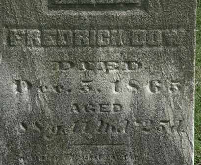 DOW, FREDERICK - Lorain County, Ohio | FREDERICK DOW - Ohio Gravestone Photos