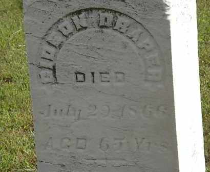 DRAPER, GIDEON - Lorain County, Ohio | GIDEON DRAPER - Ohio Gravestone Photos