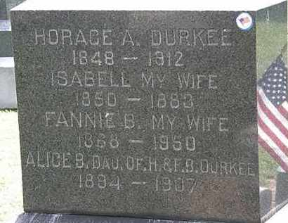 DURKEE, FANNIE B. - Lorain County, Ohio | FANNIE B. DURKEE - Ohio Gravestone Photos