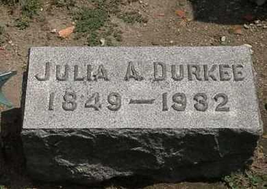 DURKEE, JULIA A. - Lorain County, Ohio   JULIA A. DURKEE - Ohio Gravestone Photos