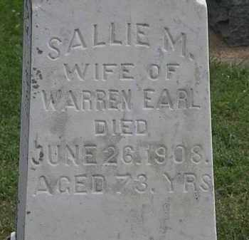EARL, SALLIE M. - Lorain County, Ohio | SALLIE M. EARL - Ohio Gravestone Photos
