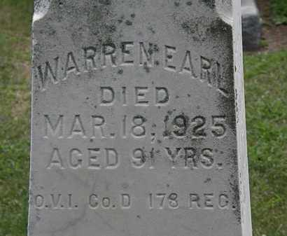 EARL, WARREN - Lorain County, Ohio | WARREN EARL - Ohio Gravestone Photos