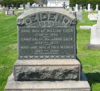 EIDEN, FRED - Lorain County, Ohio | FRED EIDEN - Ohio Gravestone Photos