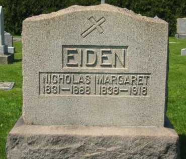 EIDEN, NICHOLAS - Lorain County, Ohio | NICHOLAS EIDEN - Ohio Gravestone Photos