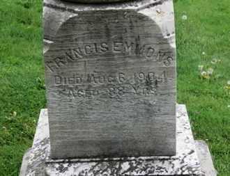 EMMONS, FRANCIS E. - Lorain County, Ohio | FRANCIS E. EMMONS - Ohio Gravestone Photos