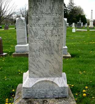 ENGLISH, ELIZABETH - Lorain County, Ohio | ELIZABETH ENGLISH - Ohio Gravestone Photos
