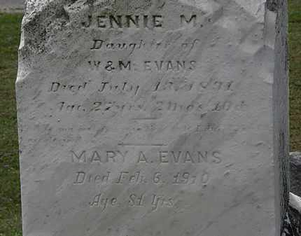 EVANS, JENNIE M. - Lorain County, Ohio | JENNIE M. EVANS - Ohio Gravestone Photos