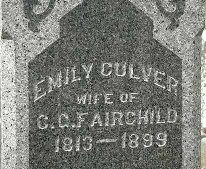 CULVER FAIRCHILD, EMILY - Lorain County, Ohio | EMILY CULVER FAIRCHILD - Ohio Gravestone Photos