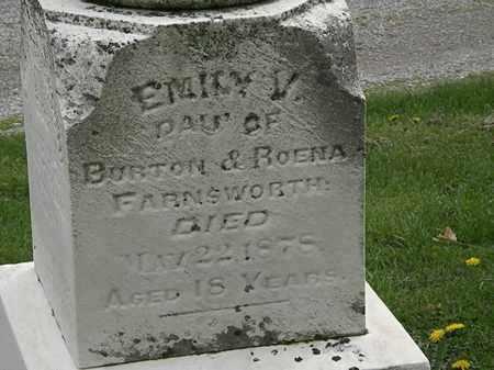 FARNSWORTH, EMILY V. - Lorain County, Ohio | EMILY V. FARNSWORTH - Ohio Gravestone Photos