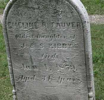 KIBBY FAUVER, EMELINE R. - Lorain County, Ohio | EMELINE R. KIBBY FAUVER - Ohio Gravestone Photos