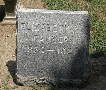 FAUVER, ELIZABETH M. - Lorain County, Ohio | ELIZABETH M. FAUVER - Ohio Gravestone Photos
