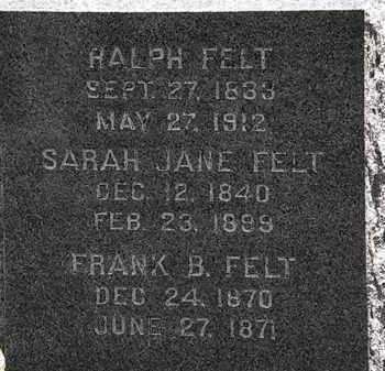 FELT, FRANK B. - Lorain County, Ohio | FRANK B. FELT - Ohio Gravestone Photos