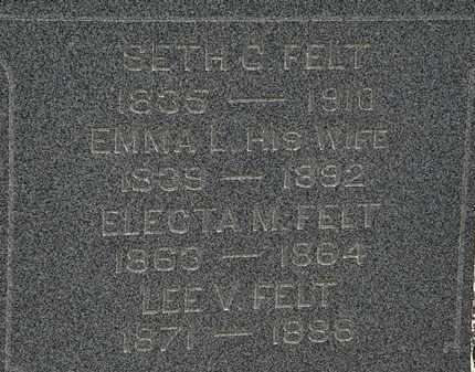 FELT, SETH C. - Lorain County, Ohio | SETH C. FELT - Ohio Gravestone Photos