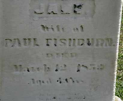 FISHBURN, JANE - Lorain County, Ohio | JANE FISHBURN - Ohio Gravestone Photos