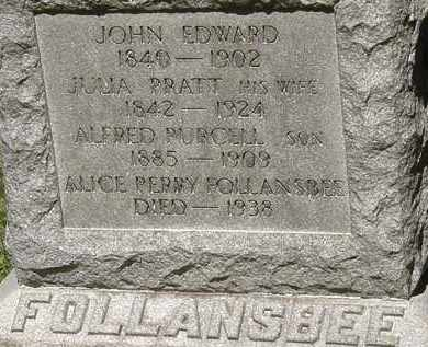 FOLLANSBEE, JOHN EDWARD - Lorain County, Ohio | JOHN EDWARD FOLLANSBEE - Ohio Gravestone Photos