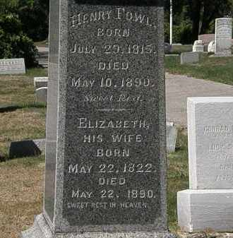 FOWL, HENRY - Lorain County, Ohio | HENRY FOWL - Ohio Gravestone Photos