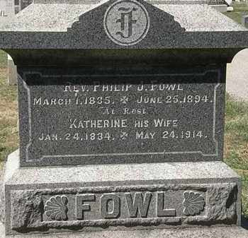 FOWL, KATHERINE - Lorain County, Ohio | KATHERINE FOWL - Ohio Gravestone Photos