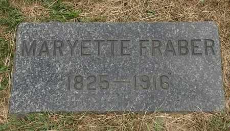 FRABER, MARYETTE - Lorain County, Ohio | MARYETTE FRABER - Ohio Gravestone Photos