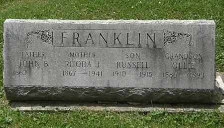 FRANKLIN, RHODA J. - Lorain County, Ohio | RHODA J. FRANKLIN - Ohio Gravestone Photos
