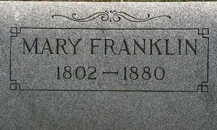 FRANKLIN, MARY - Lorain County, Ohio | MARY FRANKLIN - Ohio Gravestone Photos