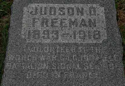 FREEMAN, JUDSON D. - Lorain County, Ohio | JUDSON D. FREEMAN - Ohio Gravestone Photos