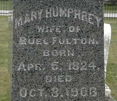 HUMPHREY FULTON, MARY - Lorain County, Ohio | MARY HUMPHREY FULTON - Ohio Gravestone Photos