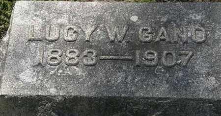 GANO, LUCY W. - Lorain County, Ohio | LUCY W. GANO - Ohio Gravestone Photos