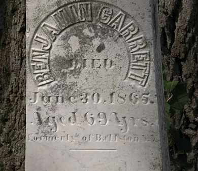 GARRETT, BENJAMIN - Lorain County, Ohio | BENJAMIN GARRETT - Ohio Gravestone Photos