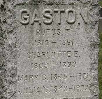GASTON, RUFUS T. - Lorain County, Ohio | RUFUS T. GASTON - Ohio Gravestone Photos