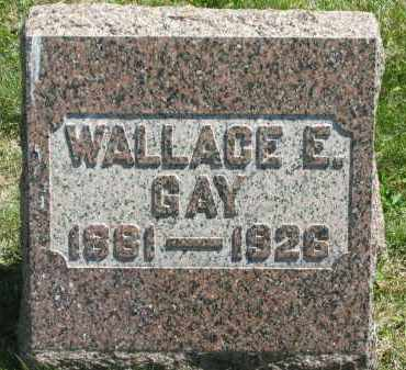 GAY, WALLACE E. - Lorain County, Ohio | WALLACE E. GAY - Ohio Gravestone Photos
