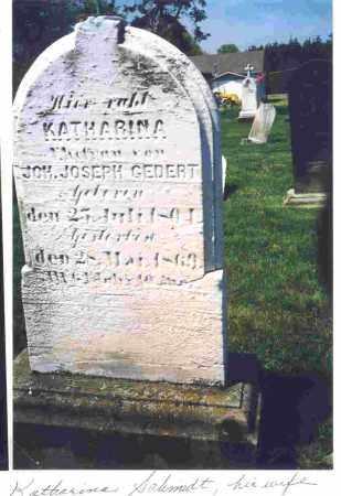 SCHMIDT GEDERT, ANNA KATHARINA - Lorain County, Ohio | ANNA KATHARINA SCHMIDT GEDERT - Ohio Gravestone Photos