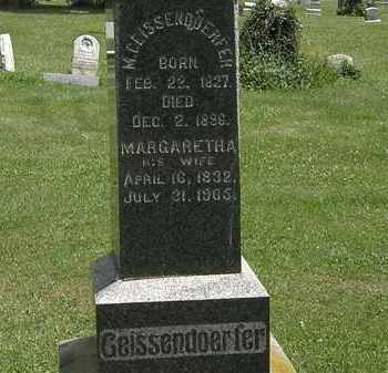 GEISSENDORFER, MARGARETHA - Lorain County, Ohio | MARGARETHA GEISSENDORFER - Ohio Gravestone Photos
