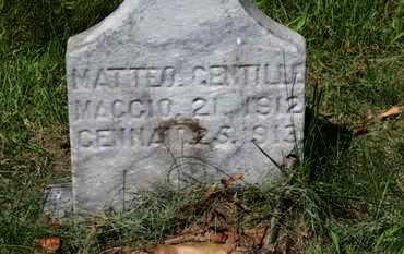 GENTILLE, MATTEO - Lorain County, Ohio | MATTEO GENTILLE - Ohio Gravestone Photos