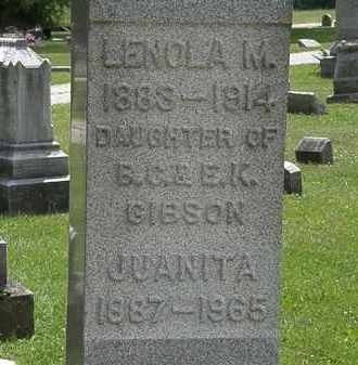 GIBSON, LENOLA M. - Lorain County, Ohio | LENOLA M. GIBSON - Ohio Gravestone Photos